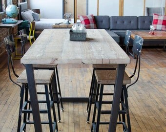 Standing Height Bistro Table/Restaurant Table/Pub Table with steel legs in your choice of color, size and finish