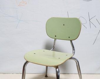 Mint Green Vintage Children's School Chair