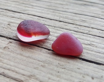 Reserved for Kim - PINK MULTI PAIR - Jewellery Quality -  Seaham Sea Glass - End of Day English (6147)