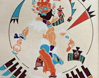 Native American art print, J Micheal Standing Bear signed lithograph