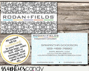 Rodan + Fields Independent Consultant Business Card Design - Business Cards - Multi Level Marketing - MLM - Free Shipping USA ONLY!
