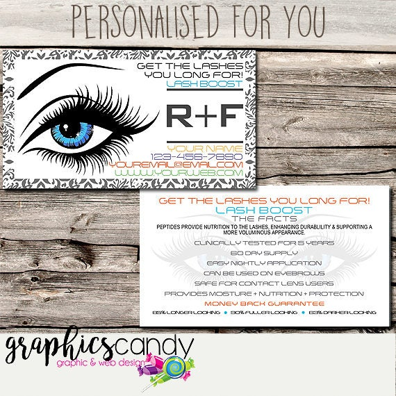 Rodan Fields Lash Boost Marketing Referral Card Business