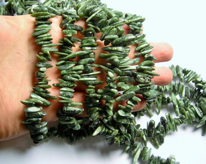 Seraphinite - full strand - stick points - Seraphinite  Gemstone - PSC308