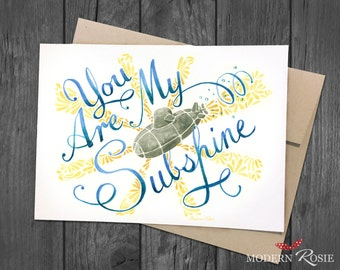 You Are My Subshine - 5x7 Greeting Card