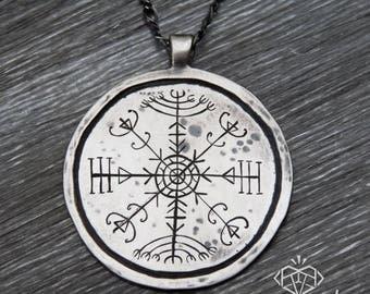 Veldismagn Necklace – Nordic Jewelry – Icelandic Jewelry – Stave Jewelry – Travel Jewelry – Nordic Pendant Necklace – World Traveler Jewelry