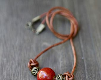 Knotted Leather Necklace