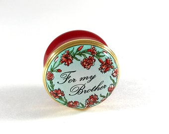Vintage Enamel Box Halcyon Days Enamel Pill Box Snuff Box Bilton & Battersea Collectible English Enamel