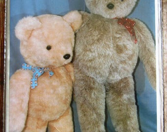 Vintage 1980s Stuffed Teddy Bears Sewing Pattern for 36 inch and 48 inch Bears UNCUT