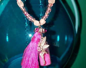 Long Pink Pixie Dust Necklace