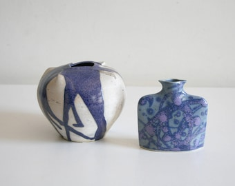 Small Blue Porcelain Pottery Collection