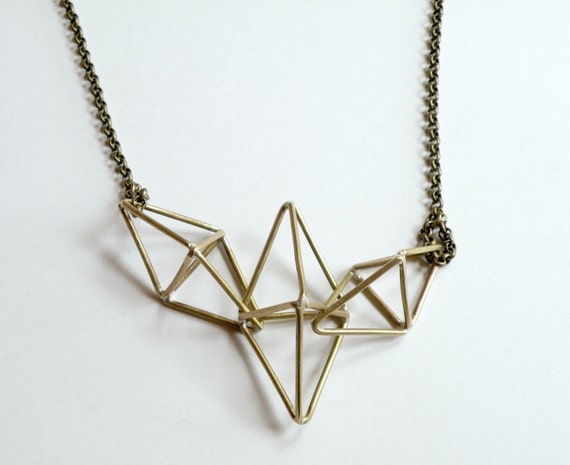 Triple Prism Necklace