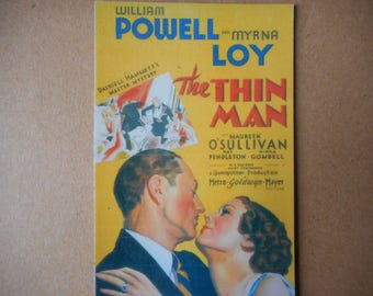 Magnet- The Thin Man movie  William Powell Myrna Loy 1940's