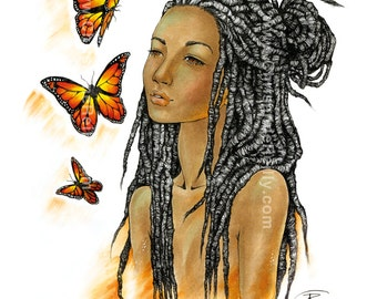 Art Print - Butterflies in my eyes