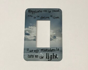 New BEACH Happiness Can Be Found Quote Jumbo TOGGLE Light Switch Plate GFI Decora style Switchplate