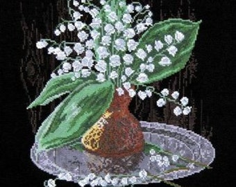 NEW UNOPENED Russian Counted Cross Stitch Kit OVEN 462 Lilies of the valley