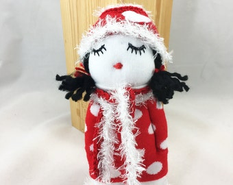 Sweet soft doll, sock doll,