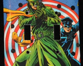 Green Hornet and Kato Comic Book Double Switch Plate Light Cover Wallplate