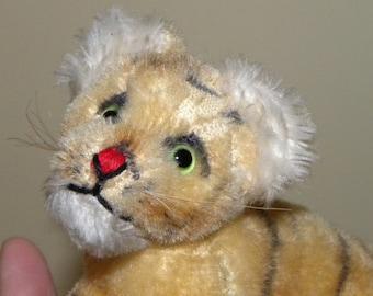 Steiff Vintage Tiger Cub - 8 inch Steiff Tiger - 1980's Steiff Toy