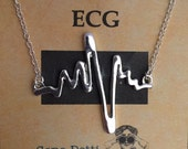 Heartbeat Necklace ECG EKG Love Necklace Jewelery doctor nurse cardiology