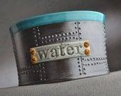 Dog Bowl Single Ready To Ship Sheet Metal Dog Water Bowl by Symmetrical Pottery
