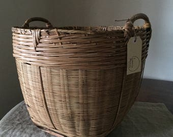 Huge High Quality Vintage wicker storage basket. My Vintage Home