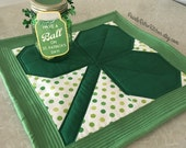 Shamrock St. Patricks Day Quilted Green Extra Large Hot Pad