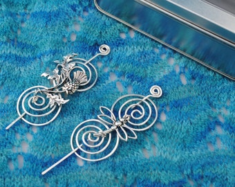 Outlander Shawl Pin Gift Set in Silver