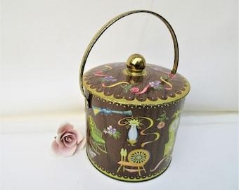 Vintage Tin Container | Daher Tin | Ice Bucket | Tin Canister | Tin Bucket | Decorative Tin | Storage Container