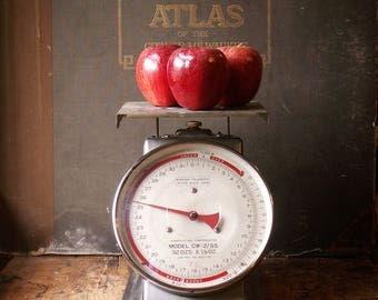 Vintage Industrial Silver Deli Scale - Retro Kitchen Decor