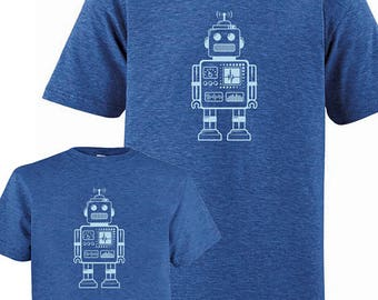 Dad Child Matching Father Son Shirts, Robot T shirts, Fathers Day gift, new dad shirt, father daughter gift for dad gift for dad from son
