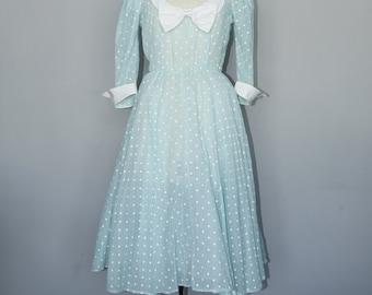 60s Sheer Polka Dot Dress
