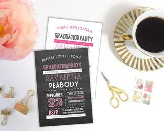Graduation Party Invitation Template, High School Grad, College Graduation, Graduation Party, Grad Party, Editable, Printable Template