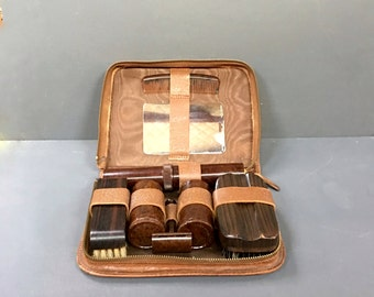 Vintage Mens Bakelite Grooming Kit Gentleman's Travel Vanity 1930s