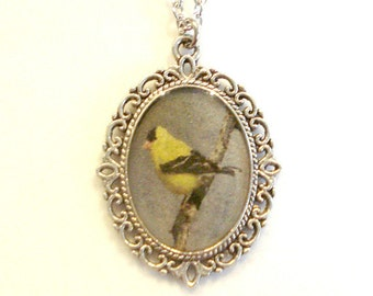 Goldfinch Necklace Goldfinch Pendant Jewelry
