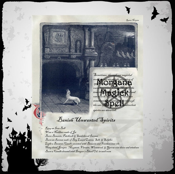 BANISH SPIRITS SPELL,  Digital Download, Book of Shadows Grimoire, Scrapbook, Spells, Pagan, Wiccan, White Magick, Witchcraft