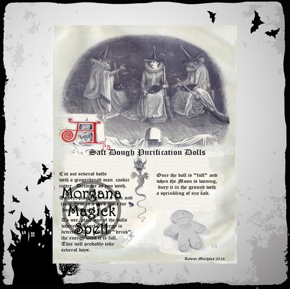 BANISH NEGATIVE ENERGY Spell, Digital Download, With Free  Recipe for Salt Dough, Pagan, Book of Shadows Pages, Grimoire, Scrapbook, Spells