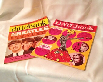 DATEBOOK Magazine Fall '64 and Spring '66 Feat. BEATLES in Excellent Cond. with FREE Shipping