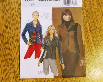 BOHO Patchwork Jacket / Elegant Fitted Spring Coat w/ Princess Seams - PLUS Size (16 - 18 - 20 - 22) - UNCUT Sewing Pattern Butterick 5422