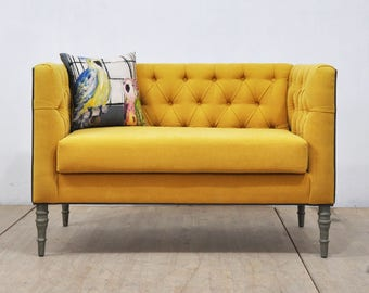 Sofas Loveseats Etsy - Love seat and sofa