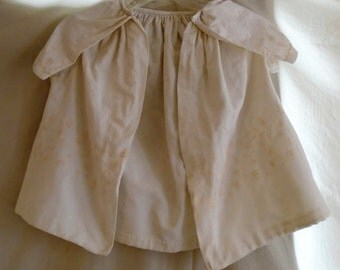Edwardian Cape Childs White Cotton Cape with Embroidered Flowers