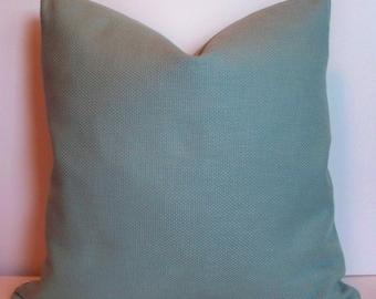 Green Pillow Solid Medium Green Pillow Basketweave Solid Green Pillow