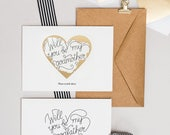 Scratch Off Will You Be My Godmother My Godfather Cards - Set of 2