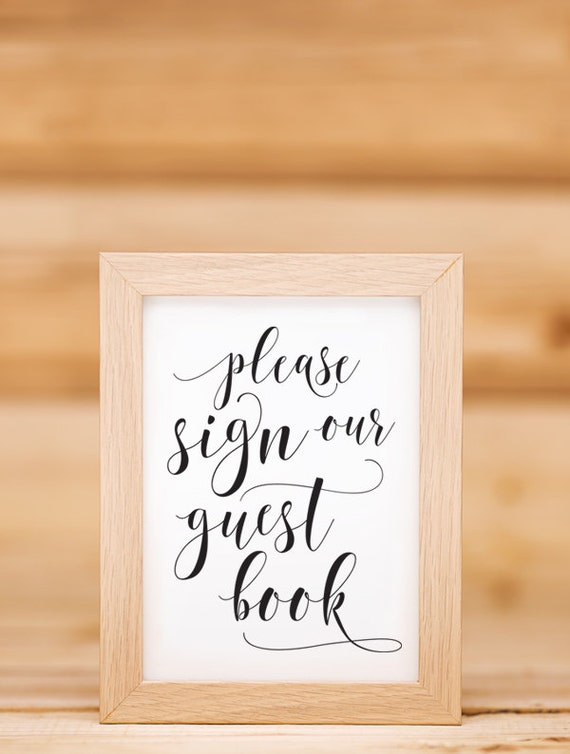 please sign guest book sign template 02 by 3eggsdesign on etsy. Black Bedroom Furniture Sets. Home Design Ideas