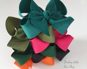 """Hairbow Set -- 6 Colors to Match Matilda Jane Once Upon A Time, Joanna Gaines release -- choose 3"""", 4"""", 5"""" or 6"""" bows -- m2m Matilda Jane"""