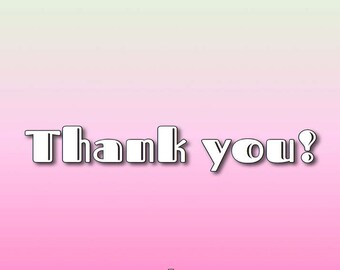 Thank You card -- printable PDF