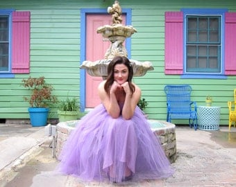 Enchanting 1950's Purple Tulle Party/Prom Gown