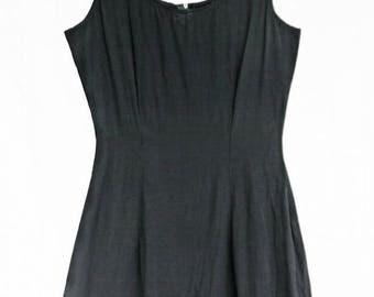 vintage simple 80's little black dress
