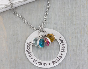 Personalized Jewelry - Hand Stamped Jewelry - Mothers Necklace - Personalized Mothers Name Necklace - Custom Gift for Mom