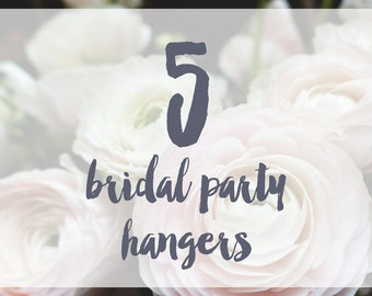 5 Bridal Party Hangers / Bridesmaid Hangers / Maid of Honor / Mother of the Bride / Wire Name Hangers / 5 Hanger Colors / 14 Wire Colors