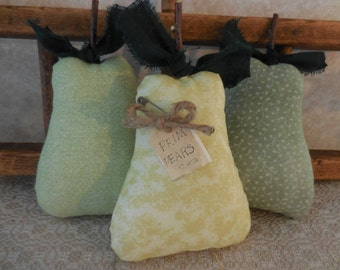 Primitive Pear Bowl Filler Tucks Kitchen Home Decor